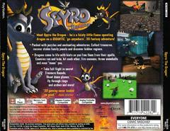 Back Of Case | Spyro the Dragon Playstation