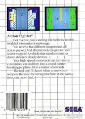 Back Cover    Action Fighter PAL Sega Master System