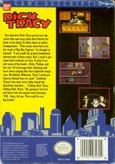 Dick Tracy - Back | Dick Tracy NES