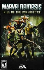 Manual - Front | Marvel Nemesis Rise of the Imperfects Playstation 2