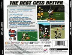 Back Of Case | Madden 2003 Playstation