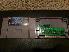 Megaman X Cartridge Label And Board Back | Mega Man X Super Nintendo
