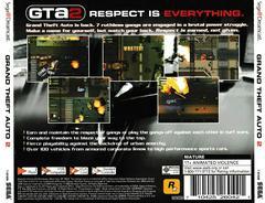 Back Of Case | Grand Theft Auto 2 Sega Dreamcast