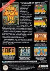 Double Dragon III - Back | Double Dragon III NES