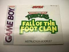 TMNT Fall Of The Foot Clan - Instructions | Teenage Mutant Ninja Turtles Fall of the Foot Clan GameBoy
