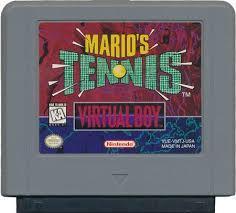 Mario'S Tennis - Cartridge | Mario's Tennis Virtual Boy