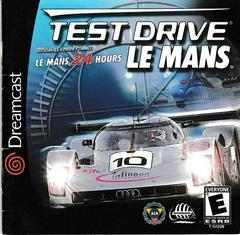 Manual - Front | Test Drive Le Mans Sega Dreamcast