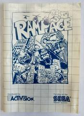 Manual | Rampage Sega Master System