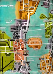 """2 Sided Map/Poster 21 1/2"""" X 13 1/2"""" 