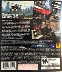 Back Of Case | Grand Theft Auto IV Playstation 3