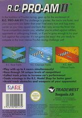RC Pro-AM II - Back | RC Pro-AM II NES