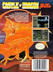 Castle Of Dragon - Back   Castle of Dragon NES
