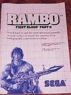 Rambo First Blood Part II - Instructions | Rambo: First Blood Part II Sega Master System