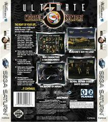 Back Of Box | Ultimate Mortal Kombat 3 Sega Saturn