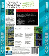 Back Of Box | Trivial Pursuit Sega CD