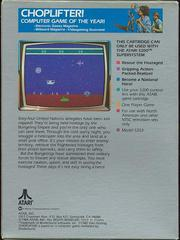 Choplifter! - Back | Choplifter! Atari 5200