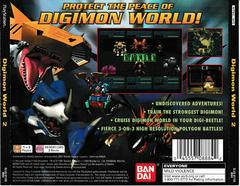 Back Of Case | Digimon World 2 Playstation