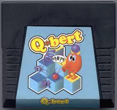 Q*Bert - Cartridge   Q*bert Atari 5200