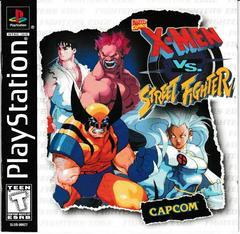 Manual - Front   X-men vs Street Fighter Playstation