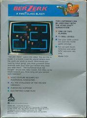 Berzerk - Back | Berzerk Atari 5200