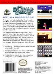 Bonk'S Adventure - Back | Bonk's Adventure NES