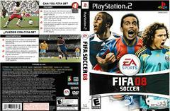 Artwork - Back, Front   FIFA 08 Playstation 2