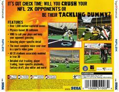 Back Of Case | NFL 2K Sega Dreamcast