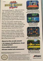 Box Back | Double Dragon II NES