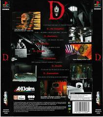 Back Of Box   D [Long Box] Playstation