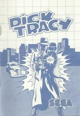 Dick Tracy - Instructions   Dick Tracy Sega Master System