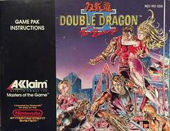 Manual | Double Dragon II NES