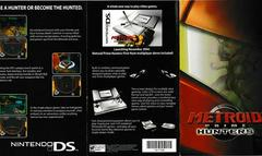 English Side- Tri-Fold Insert For Hunters On DS | Metroid Prime 2 Echoes Gamecube