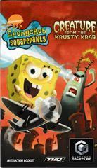 Manual - Front | SpongeBob SquarePants Creature from Krusty Krab Gamecube