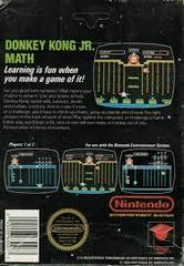 Donkey Kong Jr Math - Back | Donkey Kong Jr Math NES