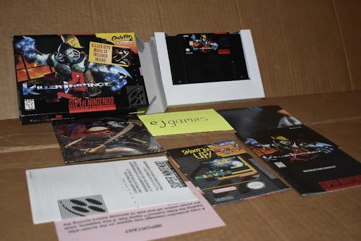 Killer Instinct Game Box Manual Super Nintendo