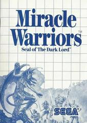Miracle Warriors - Instructions | Miracle Warriors Sega Master System