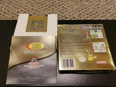 Pokemon Gold Box And Manual Back Covers | Pokemon Gold GameBoy Color