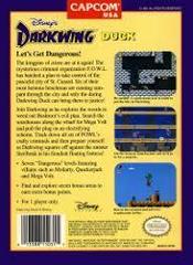 Darkwing Duck - Back | Darkwing Duck NES