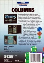 Columns - Back   Columns Sega Master System