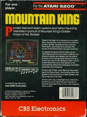 Mountain King - Back | Mountain King Atari 5200