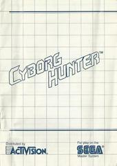 Cyborg Hunter - Instructions | Cyborg Hunter Sega Master System