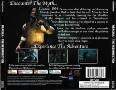 Back Of Box | Dracula The Resurrection Playstation