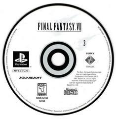 Game Disc 3   Final Fantasy VII Playstation