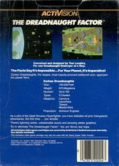The Dreadnaught Factor - Back | Dreadnaught Factor Atari 5200