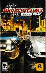 Manual - Front | Midnight Club 3 Dub Edition Remix Playstation 2