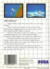 Back Cover  | After Burner PAL Sega Master System