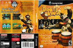 Artwork - Back, Front | Donkey Konga w/ Bongo Gamecube