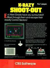 K-Razy Shoot-Out - Back | K-razy Shoot-Out Atari 5200