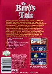 Bard'S Tale - Back | Bard's Tale NES