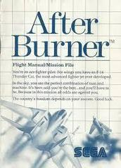 After Burner - Instructions | After Burner Sega Master System